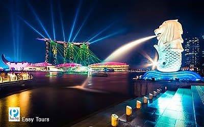 Sư tử đá bieu tuong Singapore
