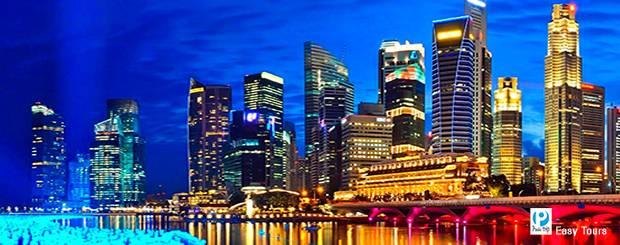 thành phố rực rỡ về đêm Singapore