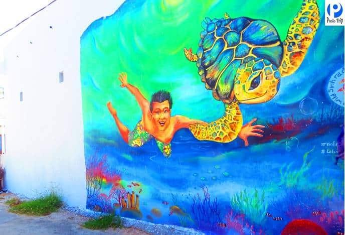 Làng bích họa - đảo bé An Bình tour du lịch Lý Sơn