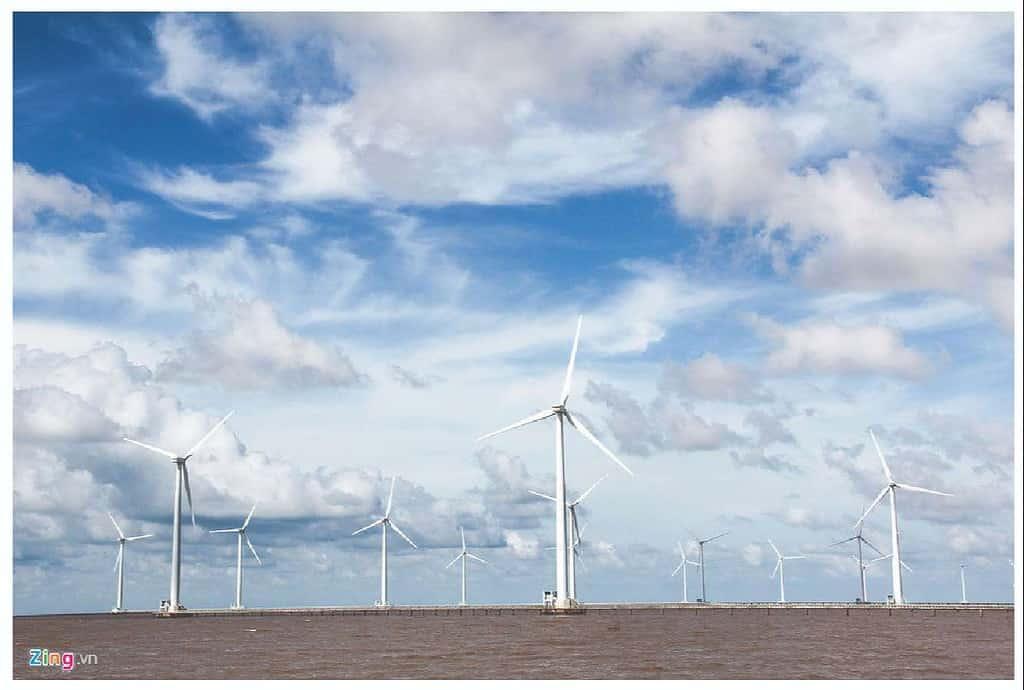 cánh đồng gió trên biển bạc liêu